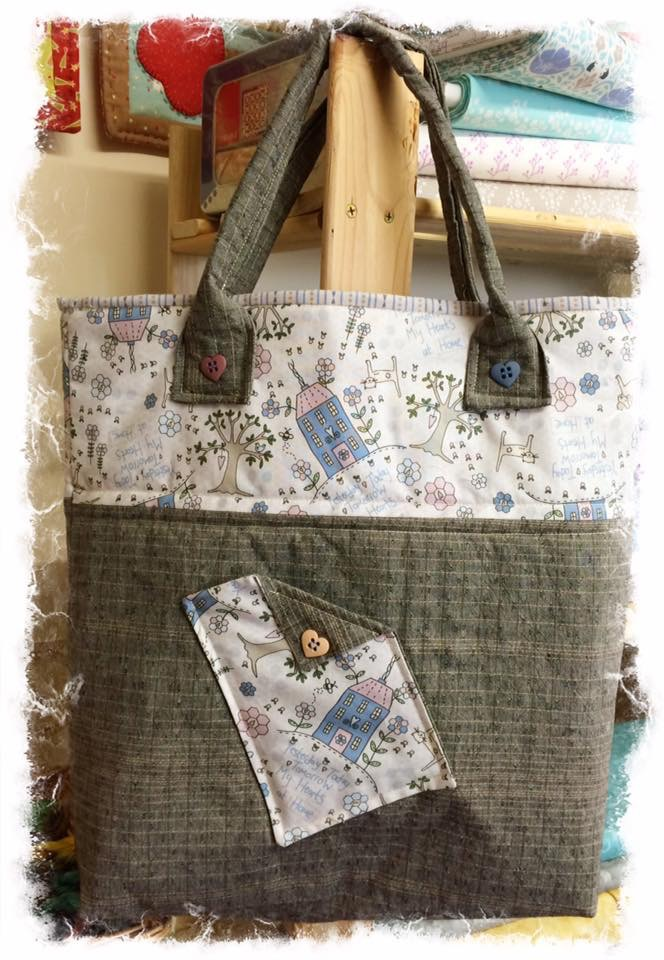Tote bag cross patch
