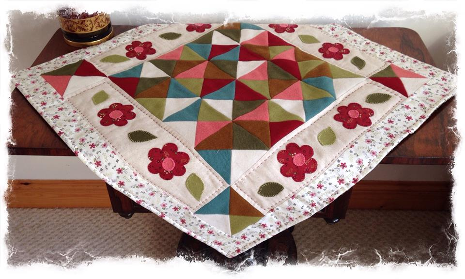 crosspatch wool table mat