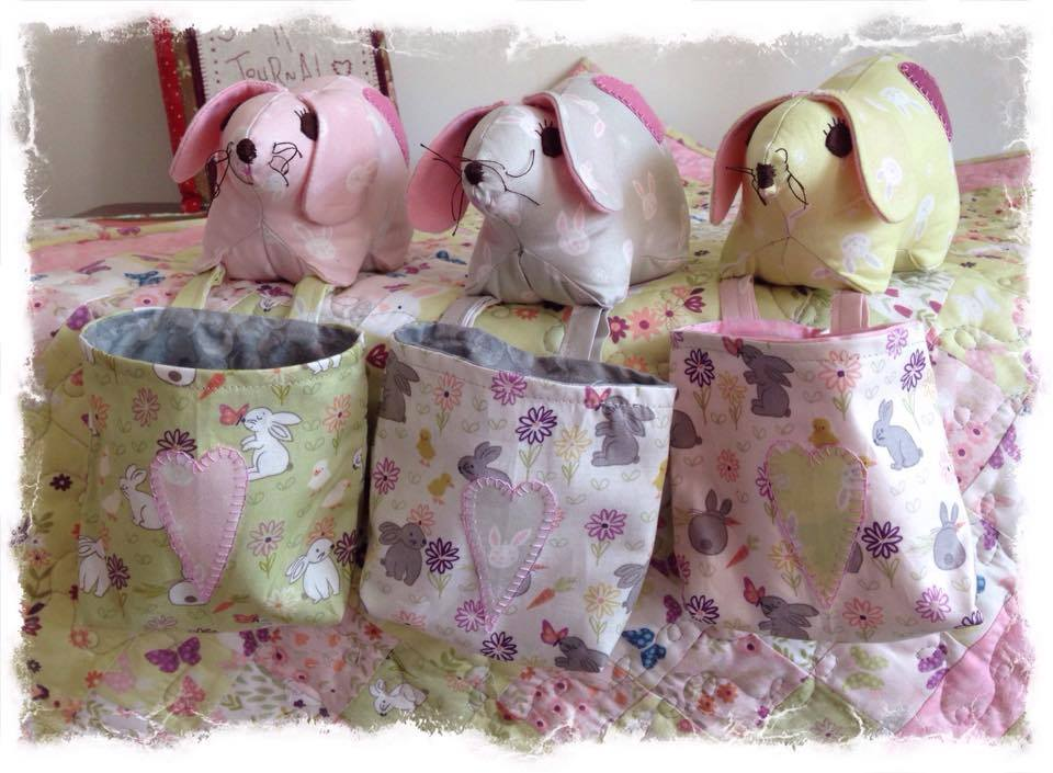 cross patch hop it bunny pincushion kit