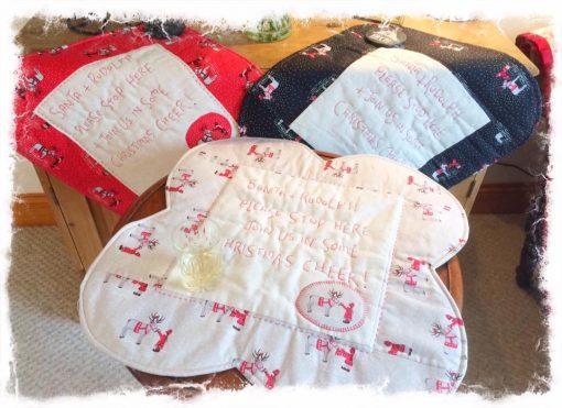 Santa and Rudolph mats