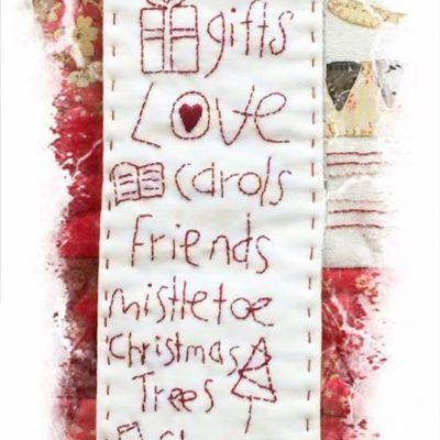 A Christmas list birdhouse oattern