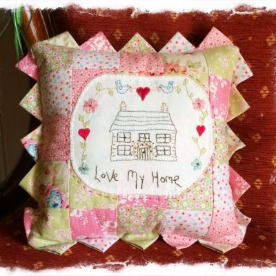 Love my home pattern cross patch