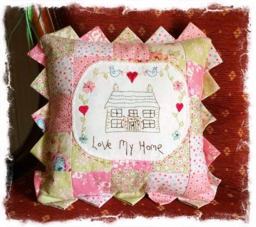 Love my home pattern cross patch