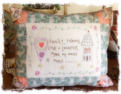 Family friends cushion