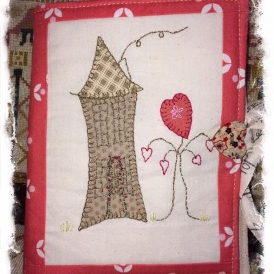 Cottage needlebook cross patch