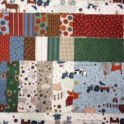High meadow farm charm pack Lynette Anderson fabrics cross patch