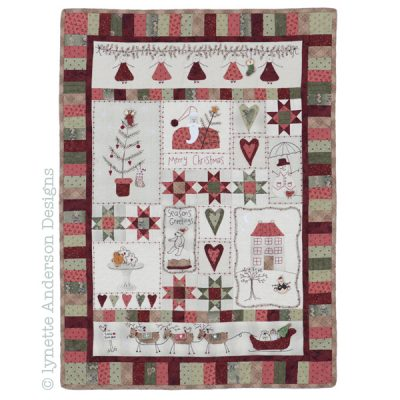 Christmas fun lynettte Anderson cross patch
