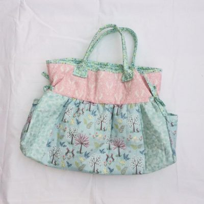 The big shop bag pattern cross patch