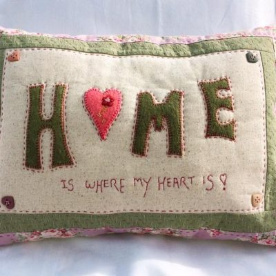 Cross patch pattern home is where my heart is