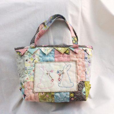 Bunny bag cross patch
