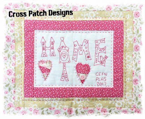 Spring home pillow crosspatch