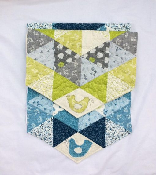 Triangle table runner crosspatch