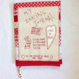 Baking journal pattern cross patch