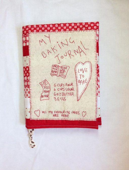 Baking journal pattern cross patch