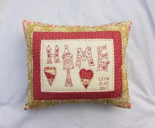 Spring home cushion cross patch