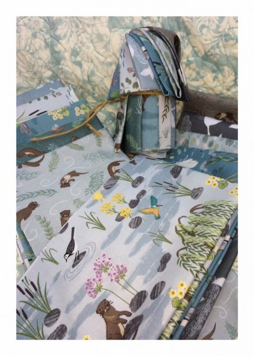Crosspatch down by the river fat 1/8th pack fabrics Lewis & irene
