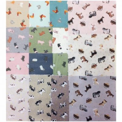 On the farm, lewis &a Irene, fabrics, charm pack, cross patch