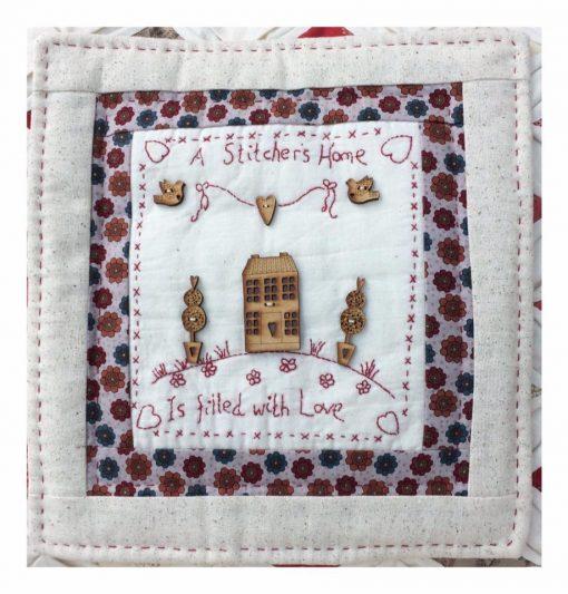 Stitchers home, www.cross-patch.co.uk, Lynette Anderson, wooden buttons, little