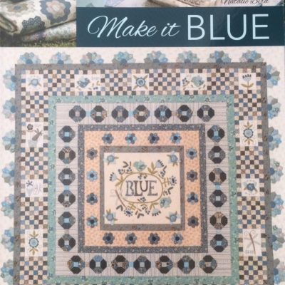 Make it blue book, cross patch, Natalie bird,book, applique, sewing
