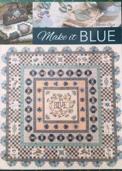 Make it blue book, cross patch, Natalie bird,book, applique, sewing