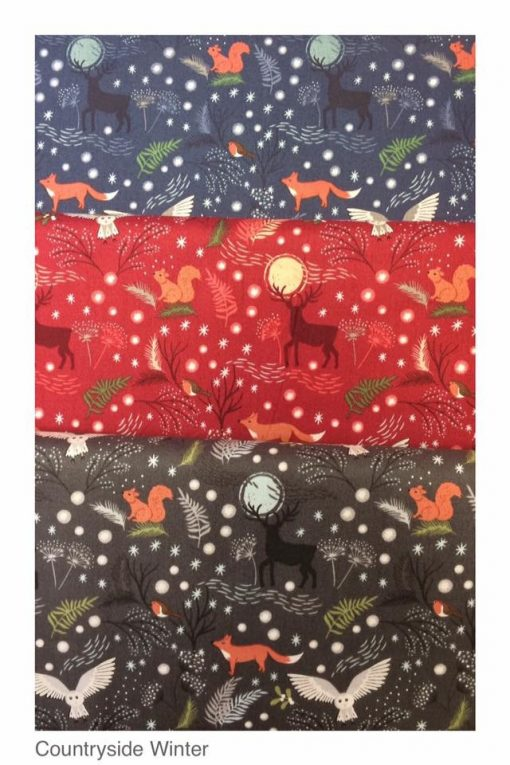 Countryside winter fabrics, cross patch, Lewis & Irene
