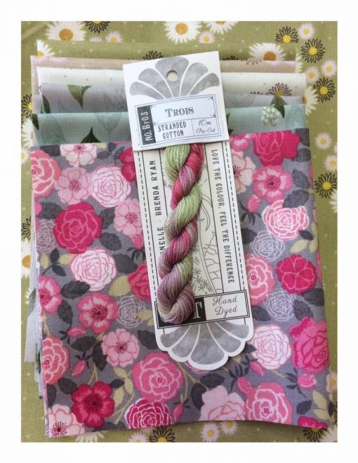 Cottage garden threads, cross patch, Lewis and Irene fabrics