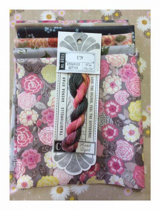 Cottage garden threads, Lewis and Irene fabrics, cross patch