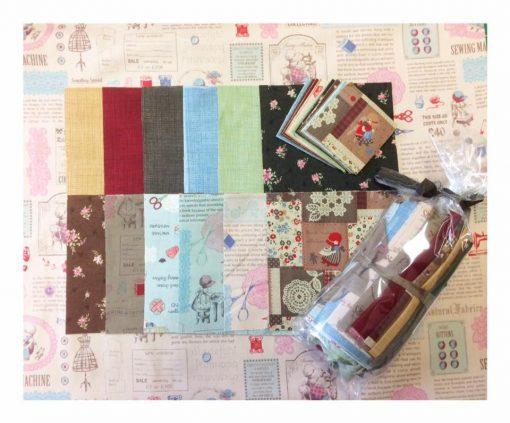 Lecien fabrics, cross patch