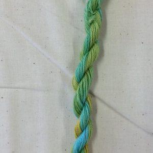 Hand dyed stitchery thread