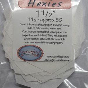 Soluble Hexagons 1.5""