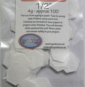 Soluble Hexagons 1/2""