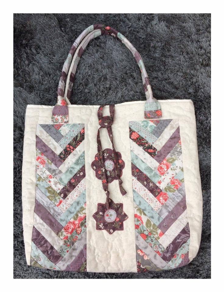 Braid bag, crosspatch